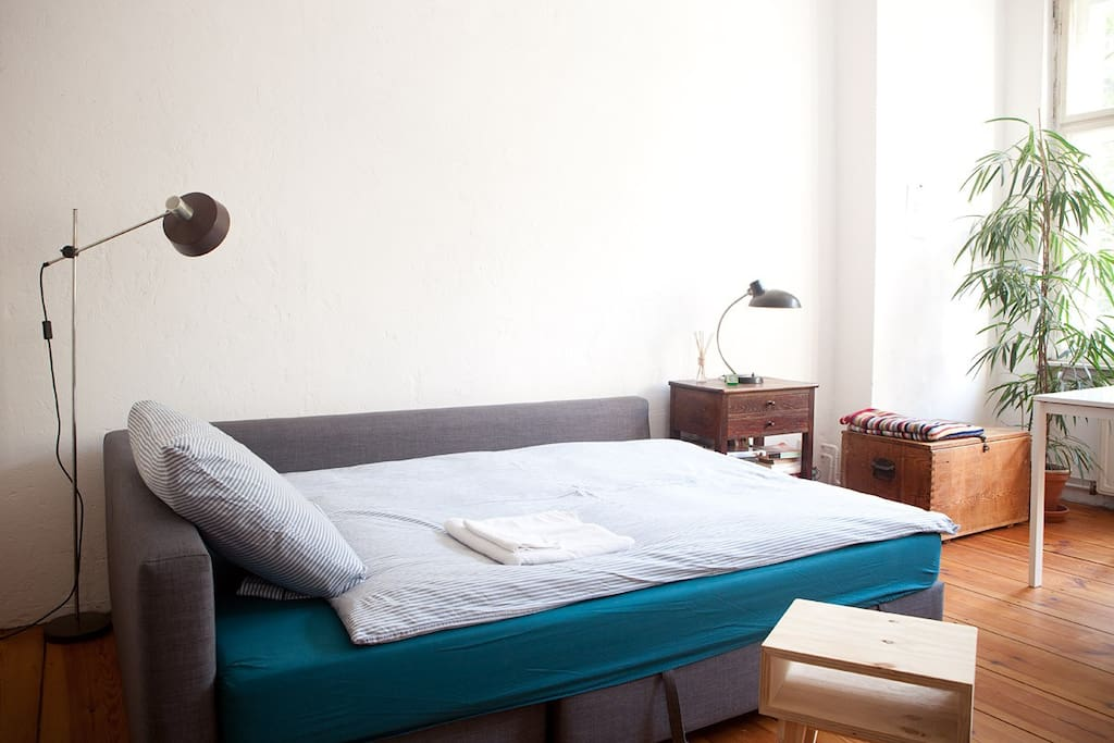 your room with bed settee for 2 persons