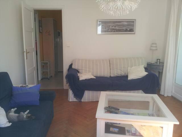 Petit salon avec les deux canapés