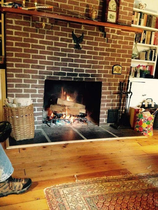 Great Room wood burning fireplace