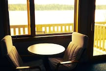 Relax with a cup of coffee and watch the sunset from your private room.