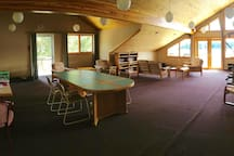Upstairs Conference Room with a deck overlooking the beautiful Tyee Lake.