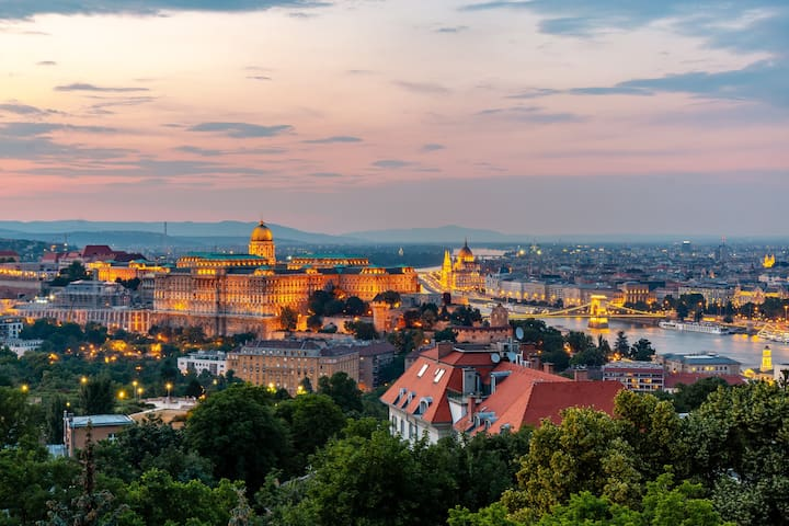 Breathtaking view from the Gellért Hill