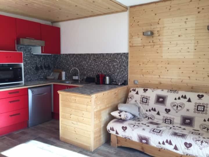 Auron, Studio-cabine 3 personnes plein sud