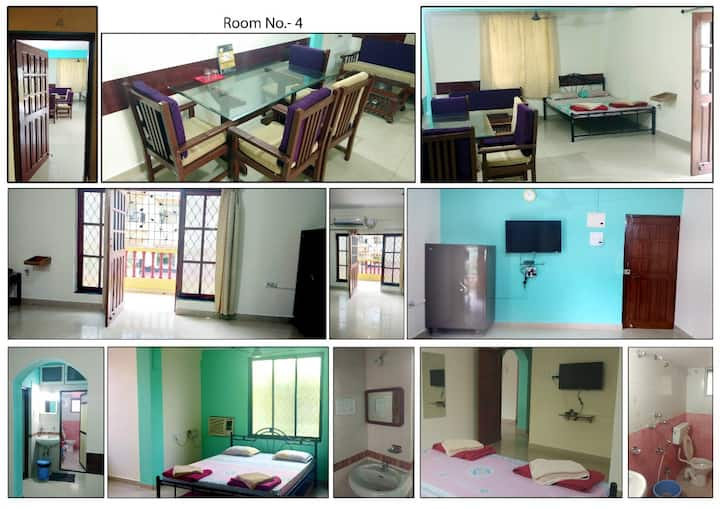 Service Apartment for Large Group in Calangute