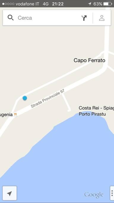 Casa di Capo Ferrato su Google Maps