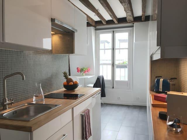Appartement lumineux avec balcon - Folies Bergères