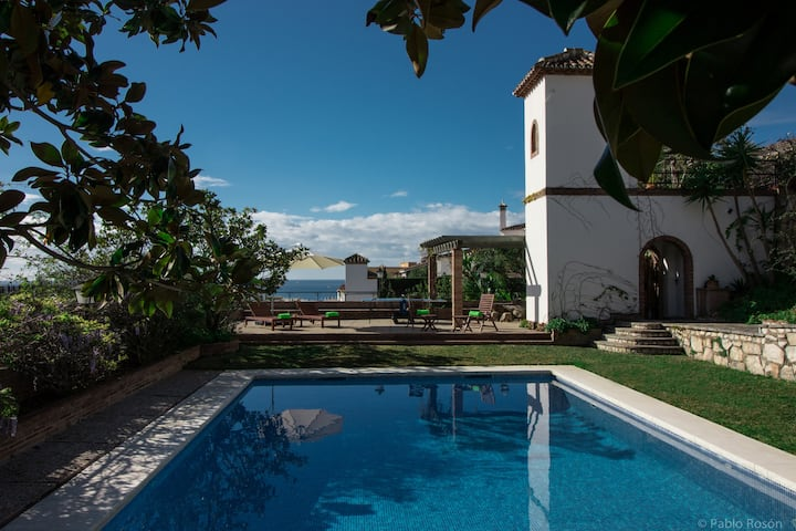Mediterranean villa with sea views