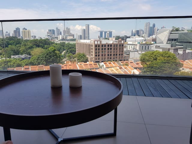 Private Room in designer flat/stunning view on MBS