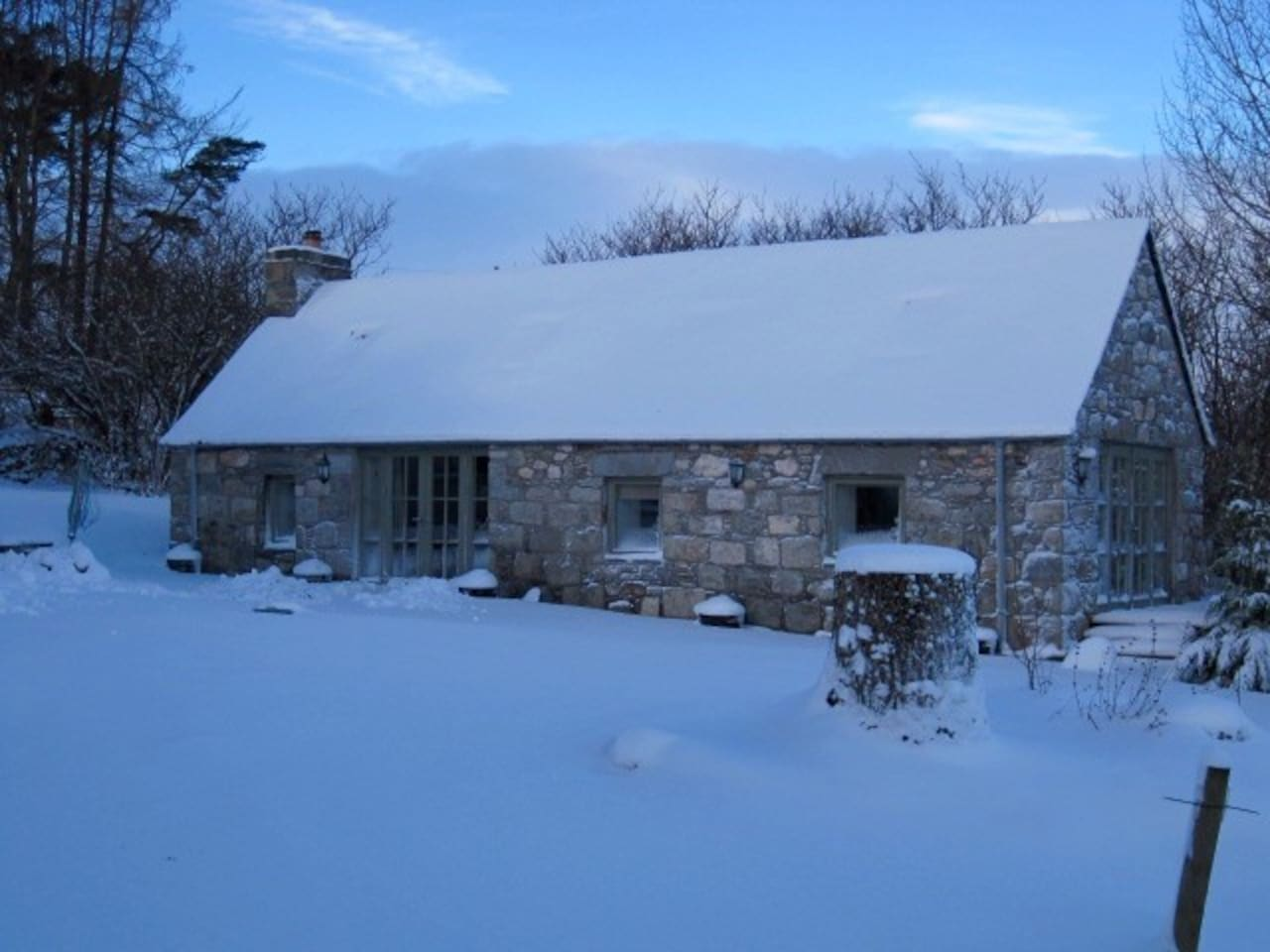 The Steading is warm, cosy and magical in the Winter