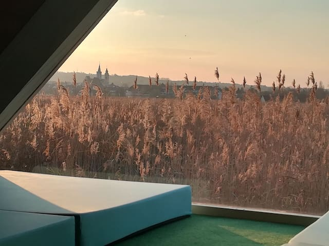Pfahlbau Sunset ein echtes Naturjuwel