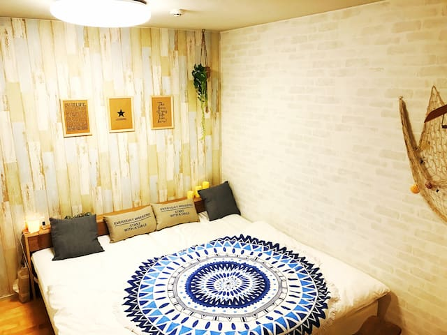 Queen bed, Free wifi, Relaxable big bath in house - Machida-shi - House