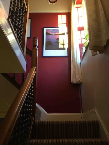 Stairs leading to your bedroom