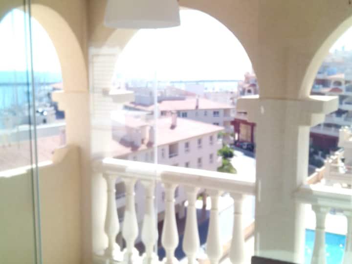 Sunny attic in marina. Almeria coast.