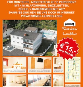 110m2 Apartment near Linz, 4 rooms 10 Single beds