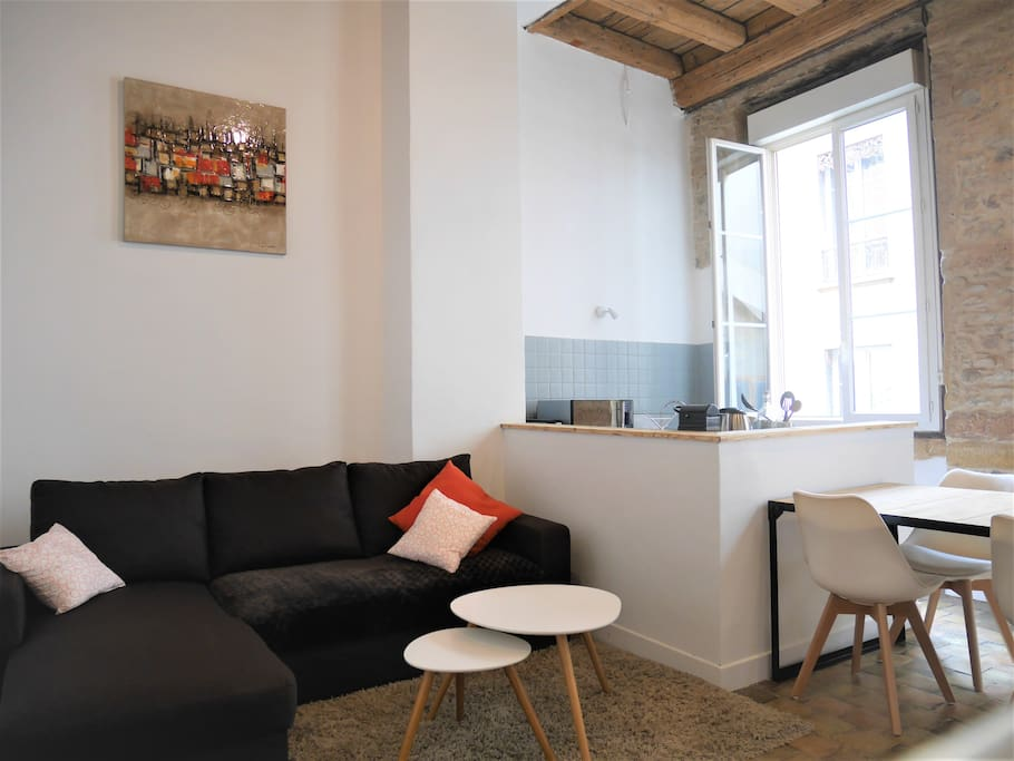 studio cosy 4 pers hyper centre op ra terreaux appartements louer lyon auvergne rh ne. Black Bedroom Furniture Sets. Home Design Ideas