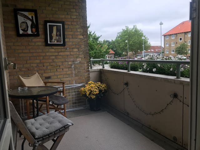 2 room flat with large terrace 500 meters from DTU