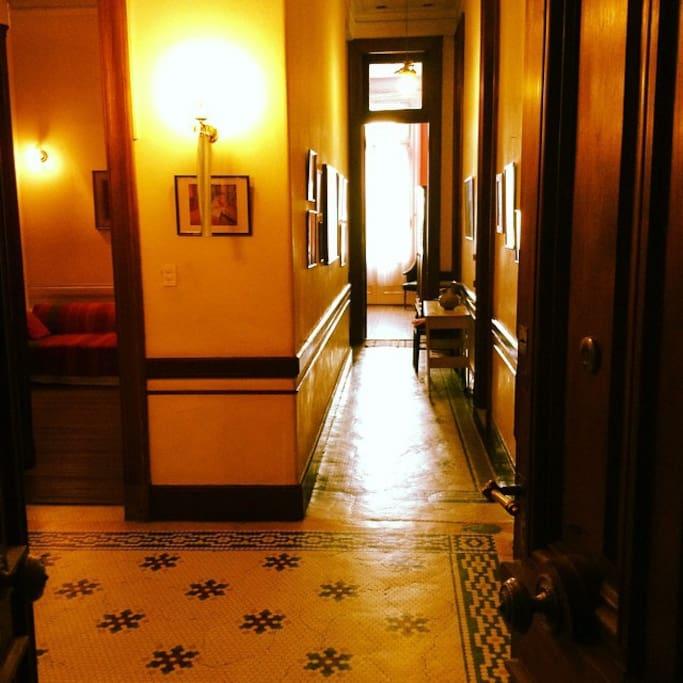 Hall de entrada del piso