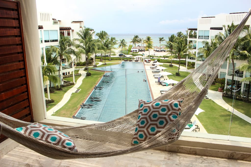 View rom the hammock