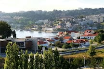 View from the front balcony to Porto and river Douro.