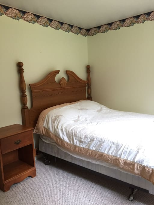 1 Double size mattress. With large Closet/ North Facing Window.