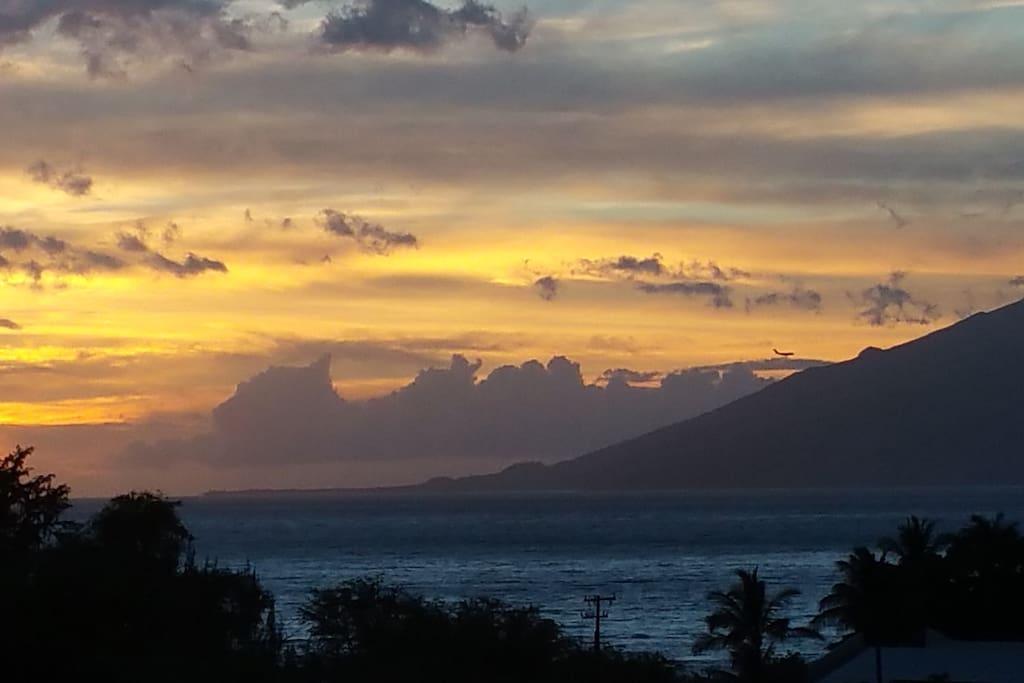 July sunset from Lanai.