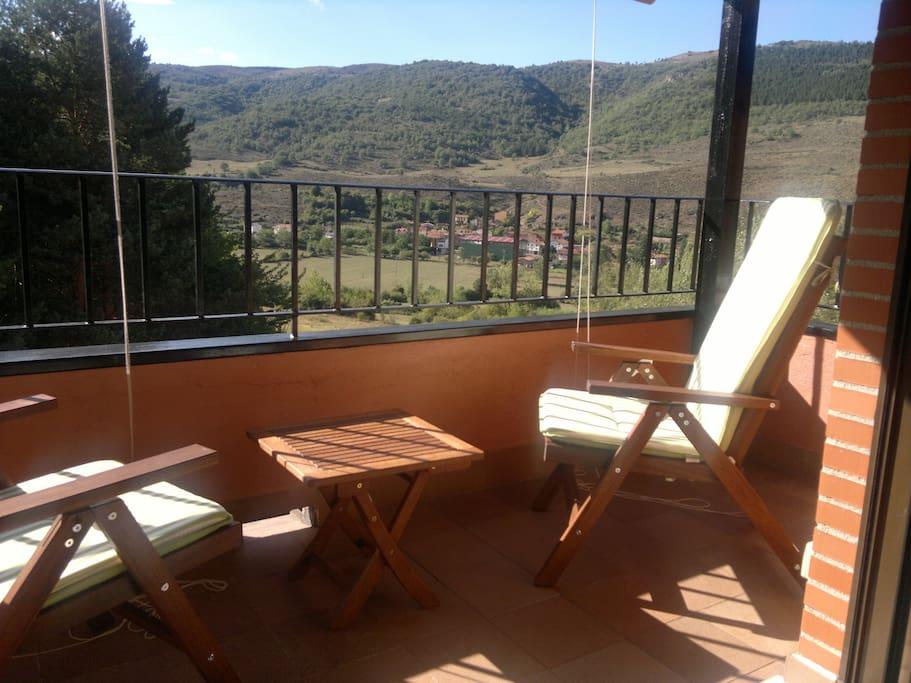 Relax con impresionantes vistas del valle.