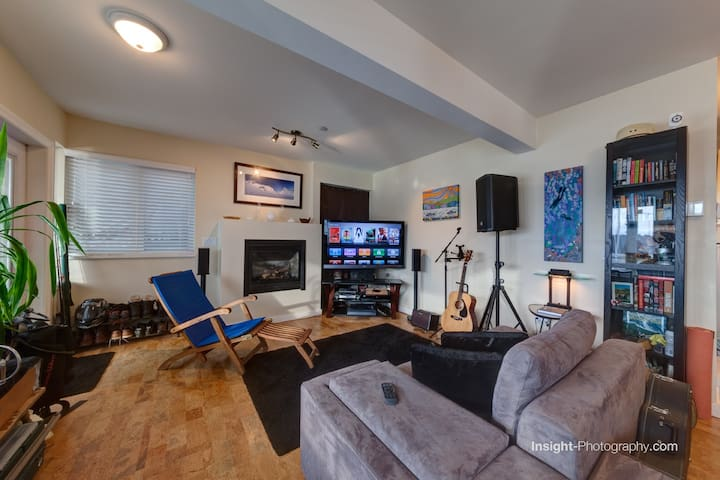 Well appointed and comfortable living room.