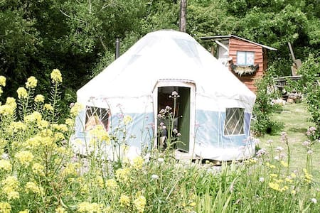 Inch Hideaway, Blue Yurt, Eco Camp - Whitegate