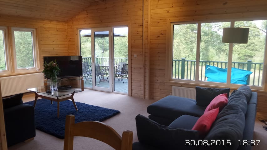 Lovely Forest Lodge with Hot Tub - Satterthwaite - Cabin