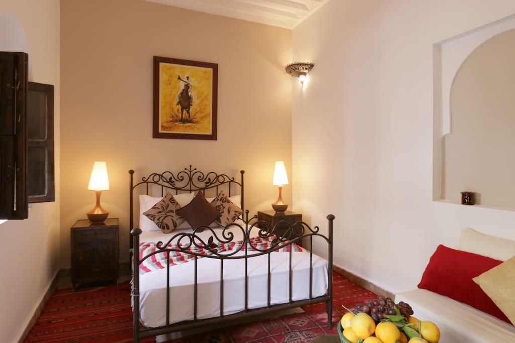 Chambre kasbah riad de charme chambres d 39 h tes louer for Chambre d hotes marrakech