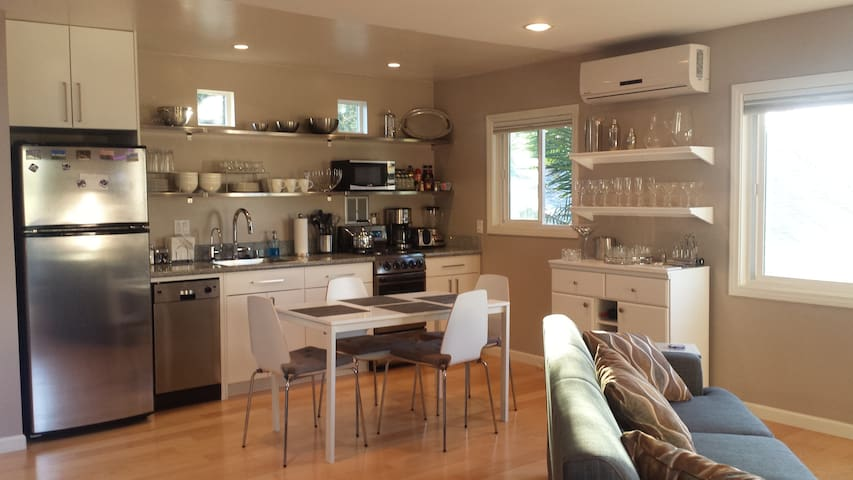 Full kitchen with everything you need to cook a gourmet meal.