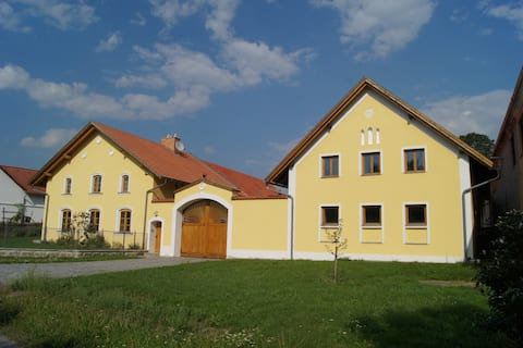 Renovated historic village house