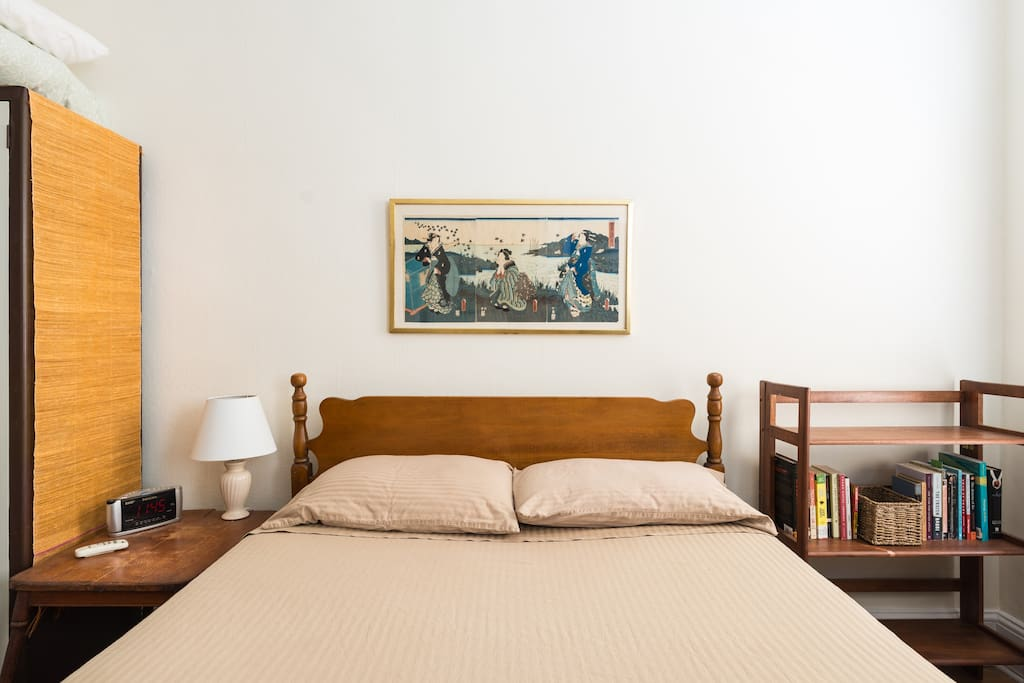 Comfortable full-size bed for two