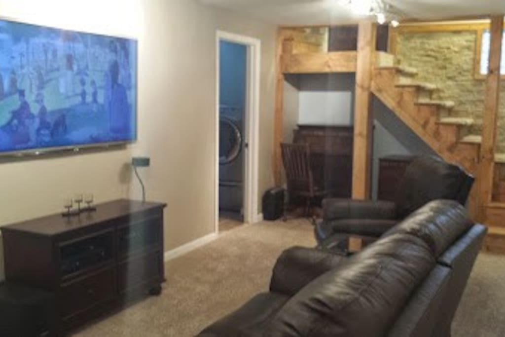 Updated basement including Smart TV,  3D capable, Blueray DVD player