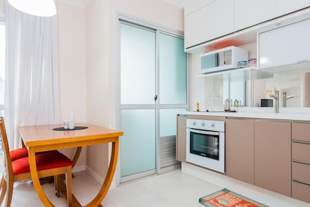 This is a modern and comfortable apartment, with many conveniences, in the perfect location to enjoy the city.  Near av. Paulista and two metro lines, it is in the heart of São Paulo's financial centre, and its best cultural features, and nightlife.