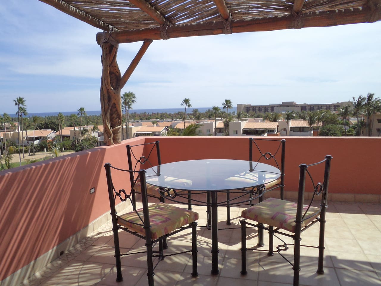 Private Penthouse patio overlooking Sea of Cortez and golf course