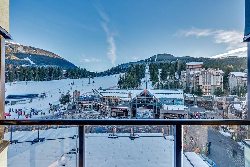 View of Whistler Gondola from the balcony of this condo. You can't get any closer!
