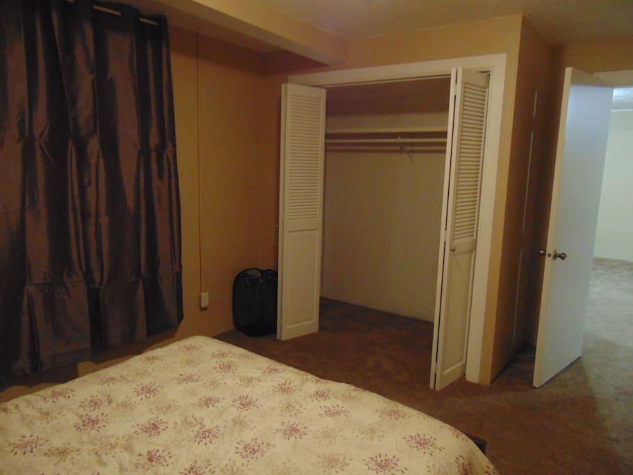 large closet for storage