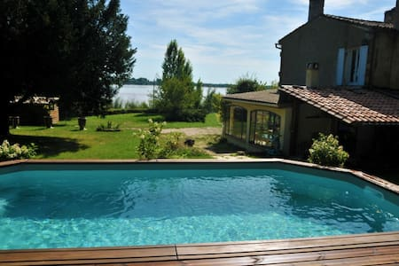 House for 6, 800sqm garden w pool - Bayon-sur-Gironde - Hus