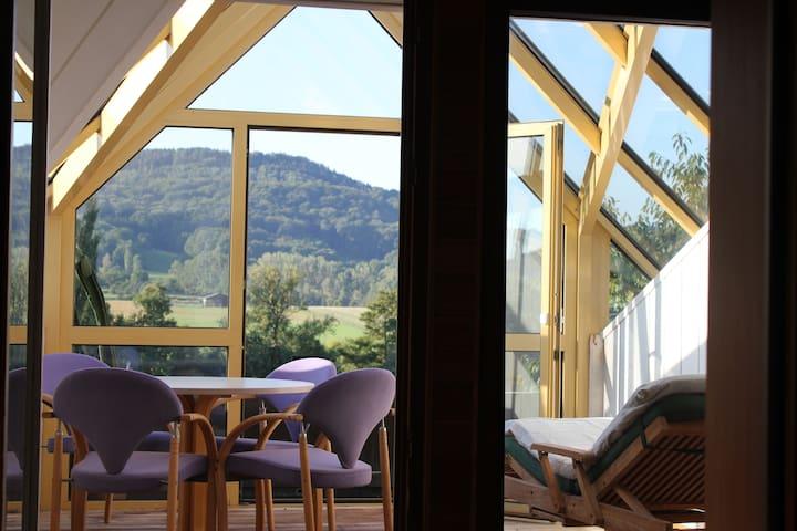 Designdachwohnung - Blick ins Grüne - Neuenstein - Daire