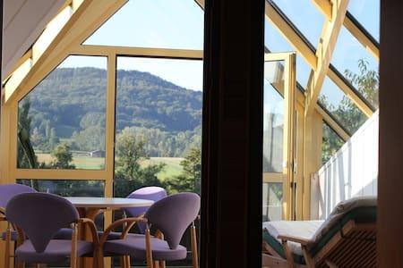 Designdachwohnung - Blick ins Grüne - Apartamento