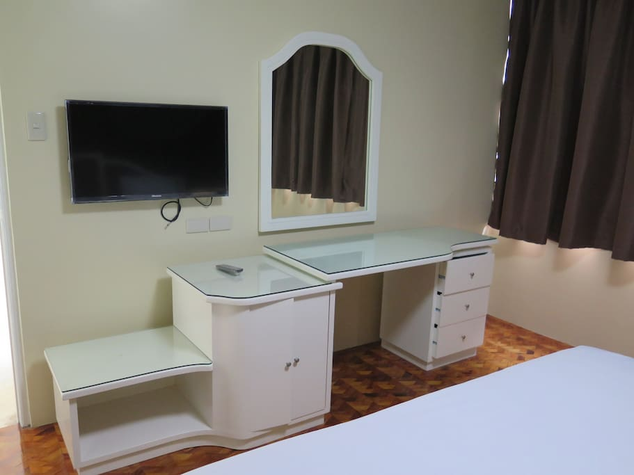 LED TV and Study table