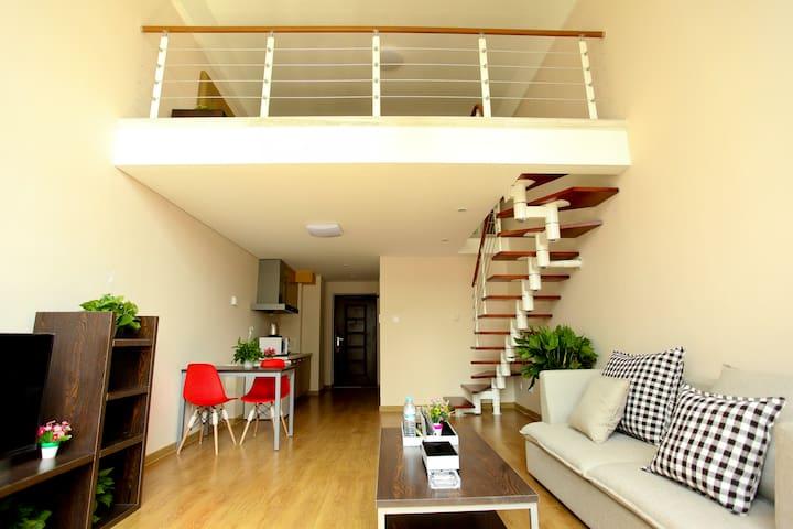 拜登盛邸服务公寓(济南奥体中心)市景loft大床套房 - Jinan