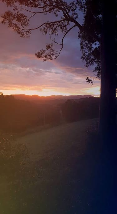 The beautiful sunset views from the cottage