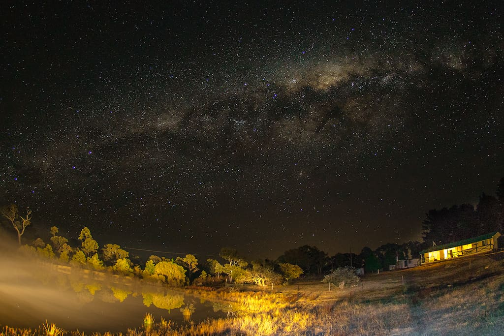 Your own space . Gaze at the stars of the milky way