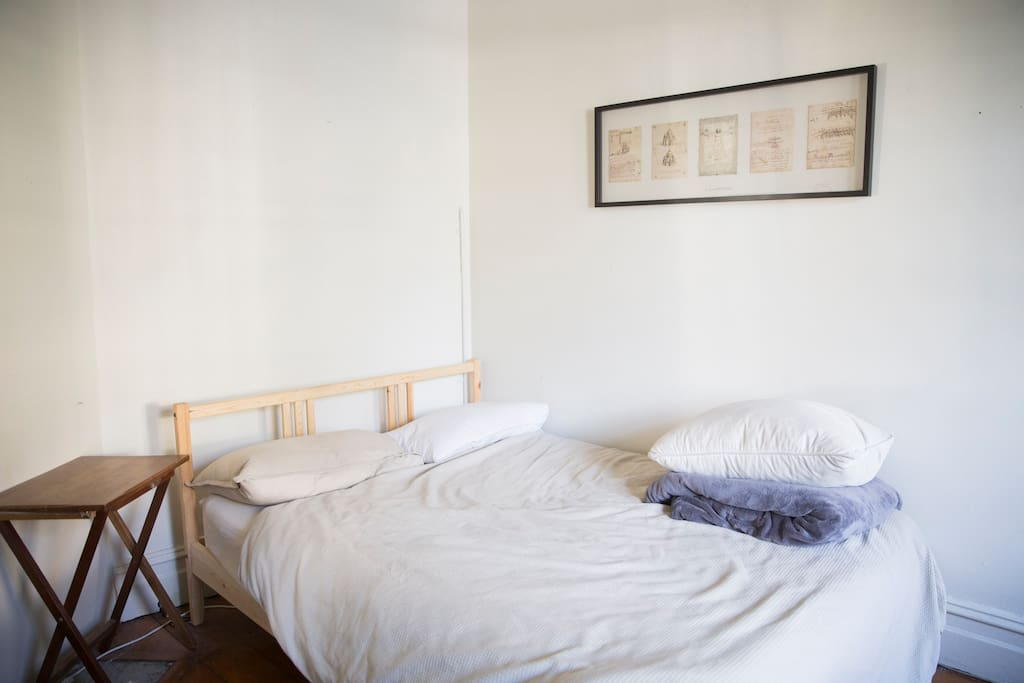 Stripped back and spacious, fresh sheets and a clean room is prepared upon arrival.