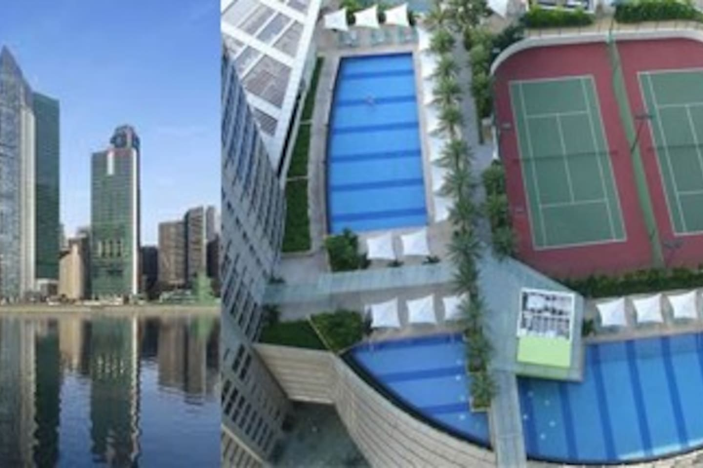 The sail condo. Guests have access to all the facilities in the condo including gym pool jacuzzi aqua pool sky terraces etc