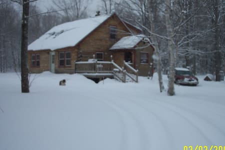 Mountain Log Home - Carrabassett Valley - Stuga