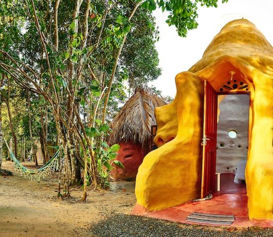Eco-Cottage in beach south of Bahia - Cumuruxatiba