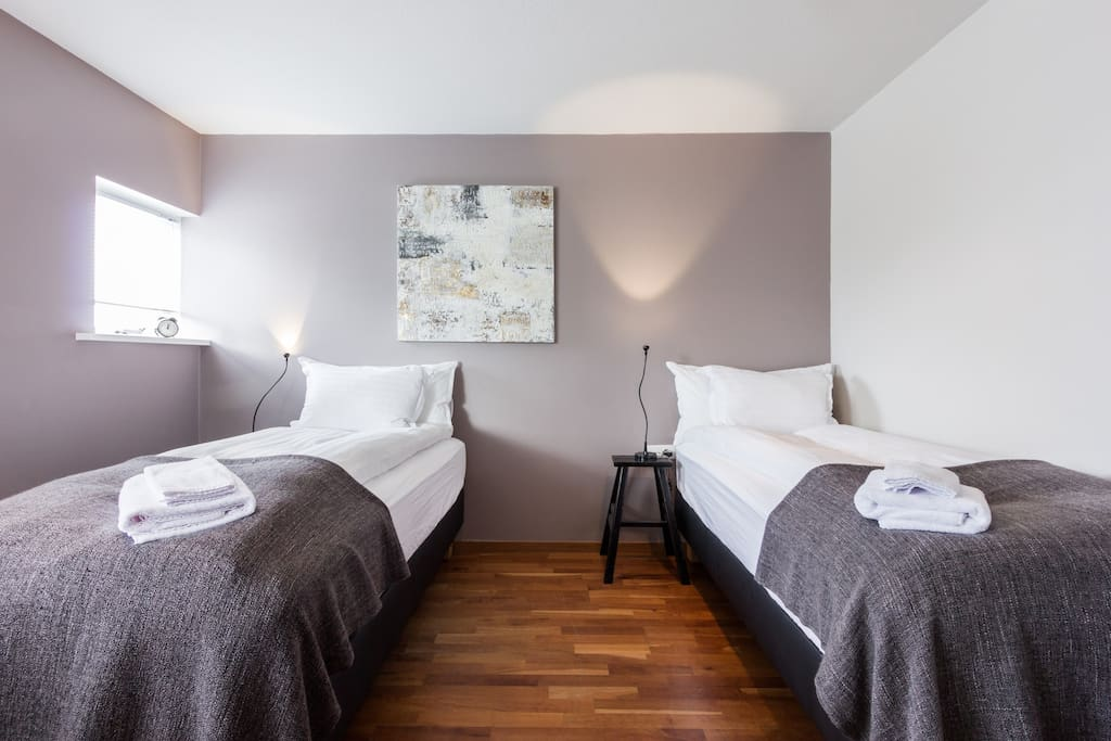 Bedroom one - can be set up as two single beds or one double